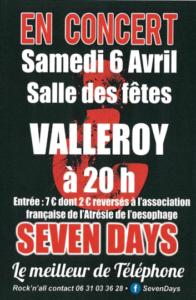 Seven Days en concert @ salle des fêtes
