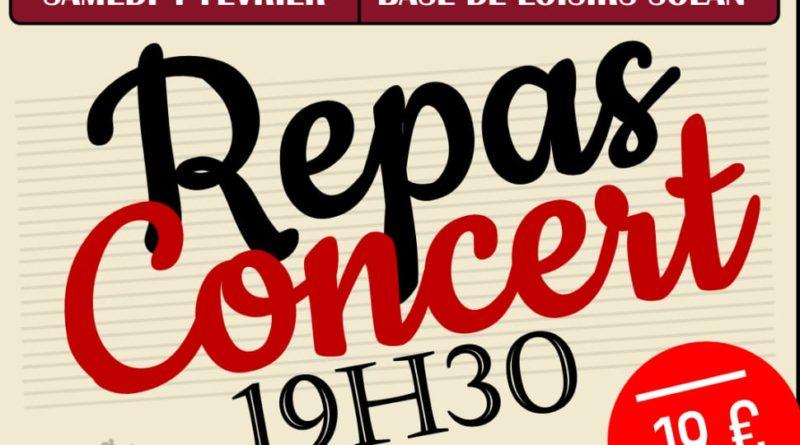 Repas concert – Class 2 Dec